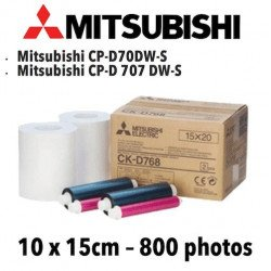 Papier 10X15cm - 800 vues Mitsubitchi CP-D70DW