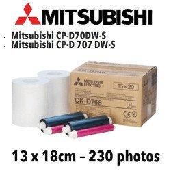 Papier 13X18cm - 230 vues Mitsubichi CP-D70DW