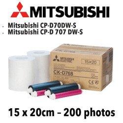 Papier 15X20cm - 200 vues Mitsubichi CP-D70DW