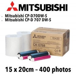 Papier 15X20cm - 400 vues Mitsubichi CP-D70DW