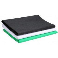 Fond studio Tissu 3x4m - Blanc, Noir, Vert