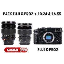 Pack Fuji X-Pro2 + 10-24mm + 16-55mm