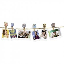 "Pack Guirlande Instax Design 10 Clips - ""Camera"""