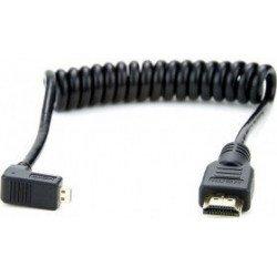 Câble Micro HDMI / Micro HDMI - Coudé spirale 30 cm