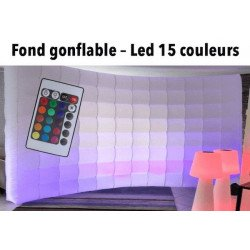 Mur gonflable luminieux à Led - 16 couleurs - Pour photobooth et photo studio