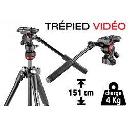 Trépied Vidéo Manfrotto BeFree - compact et léger (aluminium)