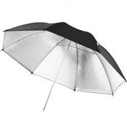 Parapluie noir / argent, 109cm - Walimex Reflex