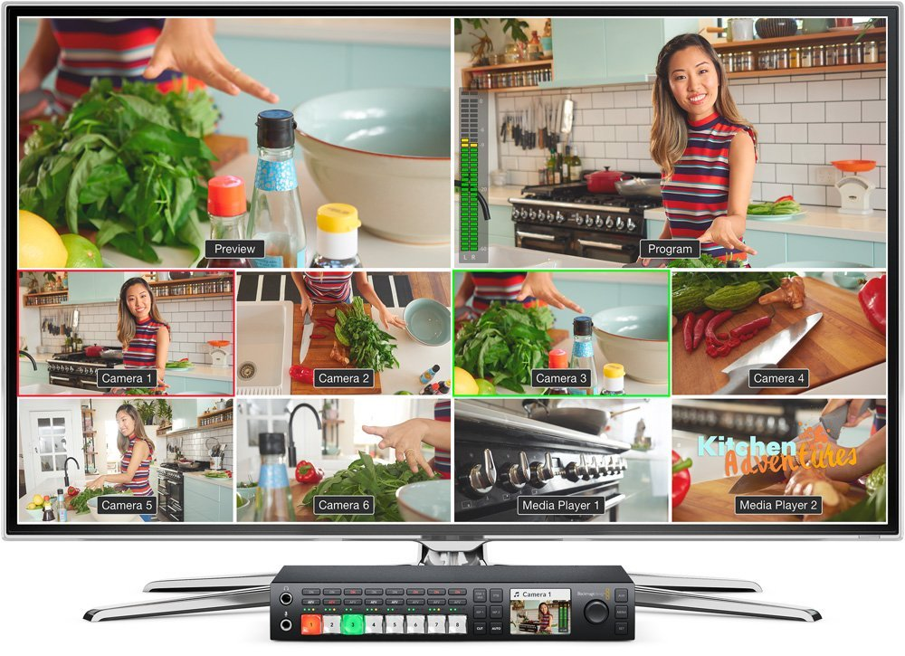 multiview integré dan le mélangeur blackmagic ateo televisión studio pro hd